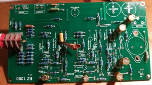 Soldering the components onto the ez1290 pcb